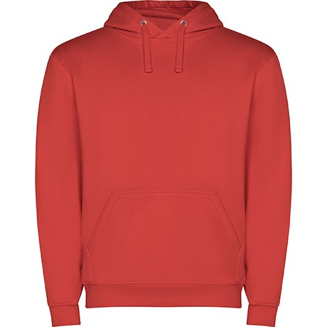 sudadera capucha roja